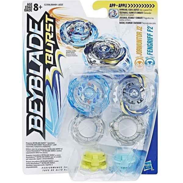 BeyBlade Burst - Dual Packs-Jormuntor J2 & Fengriff F2-Yarrawonga Fun and Games