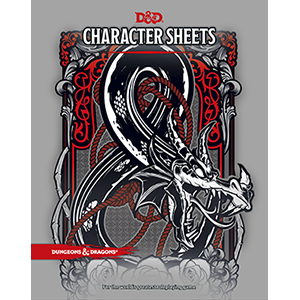 Character Sheets - Dungeons and Dragons-Yarrawonga Fun and Games.