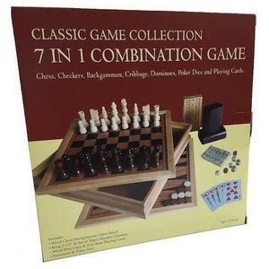 Classic Wooden 7 in 1 Combination Games Set-Yarrawonga Fun and Games