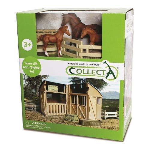 Collecta Horses and Stable Set-Yarrawonga Fun and Games