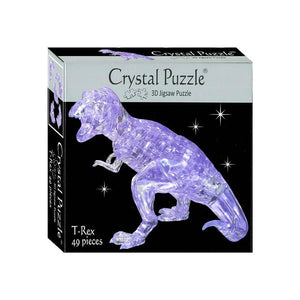 Crystal Puzzle - 3D Jigsaw -Clear T-Rex-Yarrawonga Fun and Games