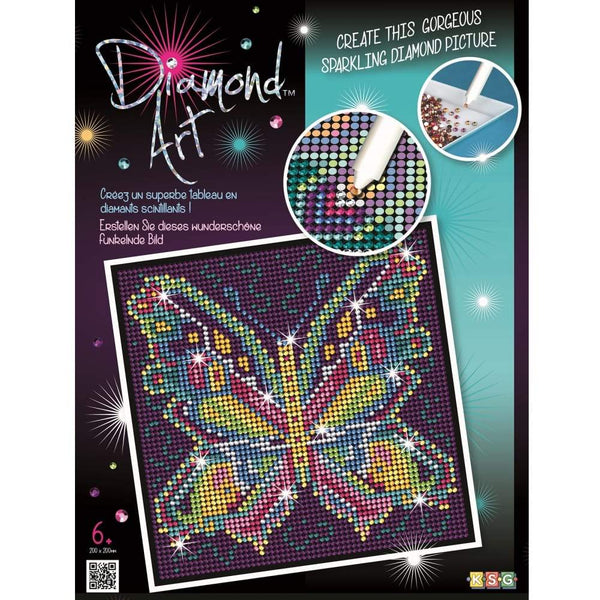 Diamond Art - Butterfly-Yarrawonga Fun and Games.