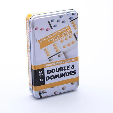 Double 6 Domino Set in Tin-Yarrawonga Fun and Games.
