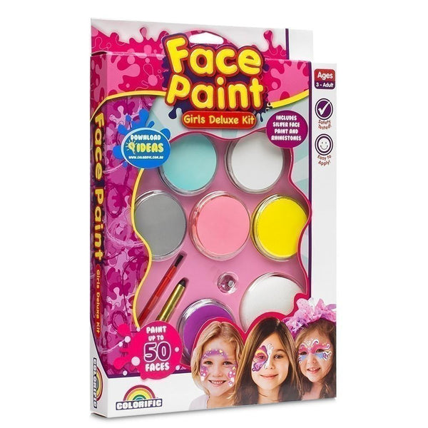 Face Paint - Deluxe Kit-Girls Deluxe Kit-Yarrawonga Fun and Games