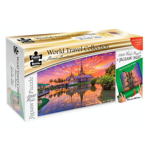 Jigsaw 1000 pieces – Thailand Temple with Puzzle Mat