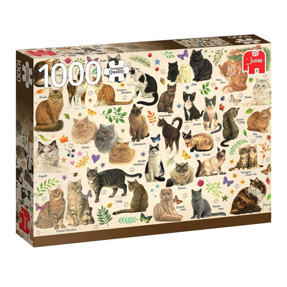 Jigsaw 1000pc -Cats Poster-Yarrawonga Fun and Games