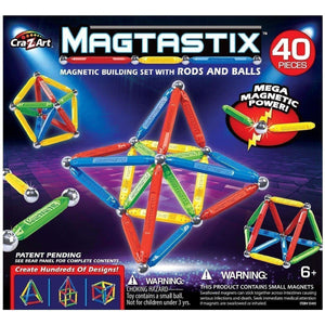 Magtastix - 40 Pieces-Yarrawonga Fun and Games