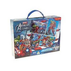 Mavel Advengers - 4 Jigsaw Puzzle Carry Case-Yarrawonga Fun and Games