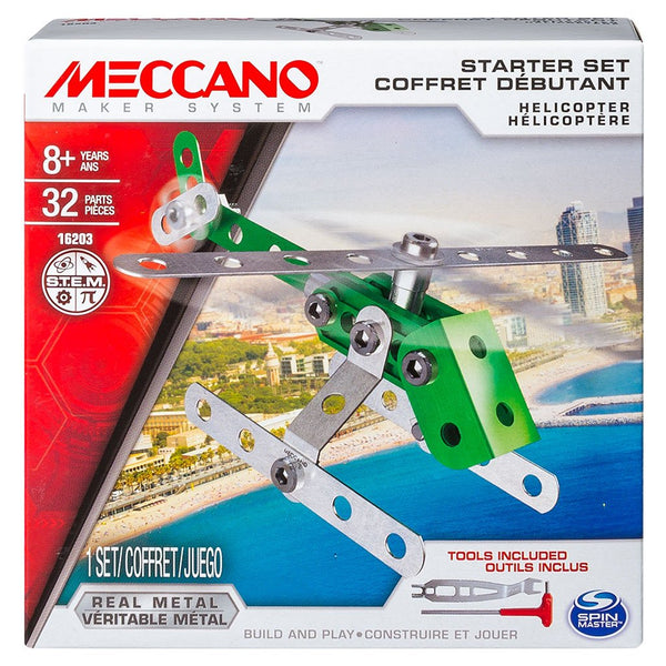 Meccano Starter Sets - Various-Helicopter-Yarrawonga Fun and Games
