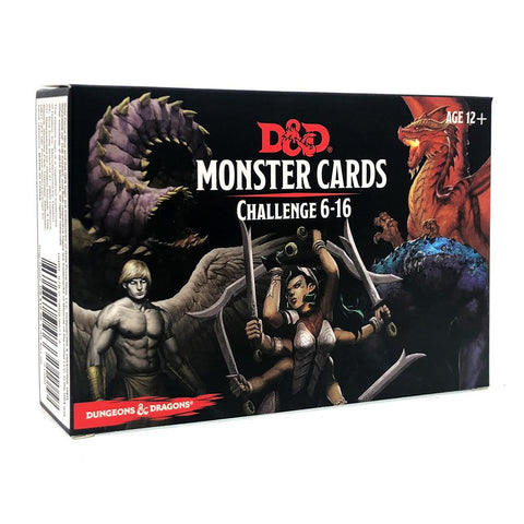 Monster Cards Challenge 6-16 - Dungeons and Dragons-Yarrawonga Fun and Games.