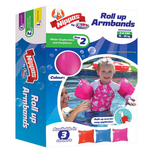 Nippas Roll Up Armbands-Pink-Yarrawonga Fun and Games.