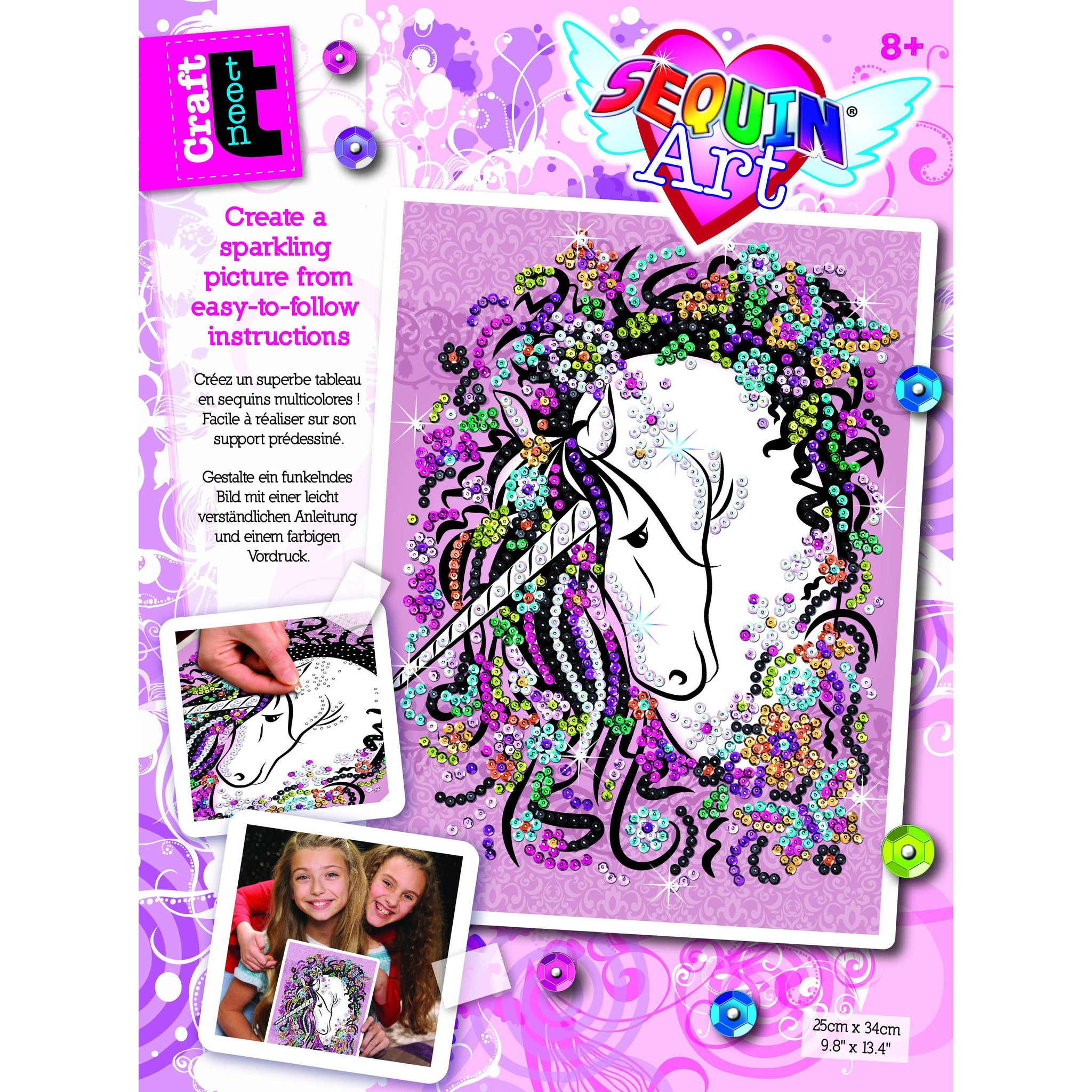 Sequin Art - Unicorn-Yarrawonga Fun and Games