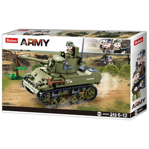 Sluban - Army - M5 Light Tank-Yarrawonga Fun and Games