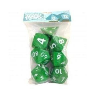 Squishable Dice Set-Green-Yarrawonga Fun and Games