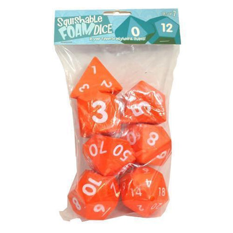 Squishable Dice Set-Orange-Yarrawonga Fun and Games.