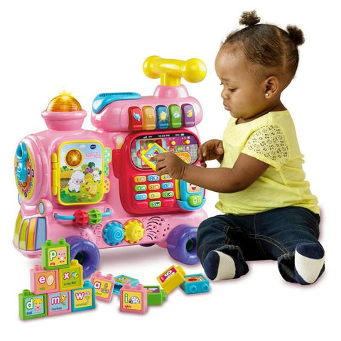 Vtech - Push and Ride Train - Pink-Yarrawonga Fun and Games