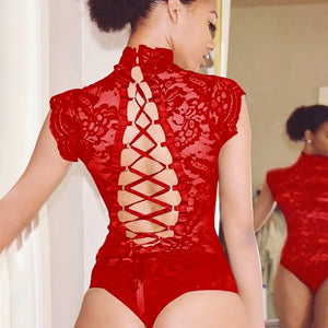 BODY  EN DENTELLE TRANSPARENTE