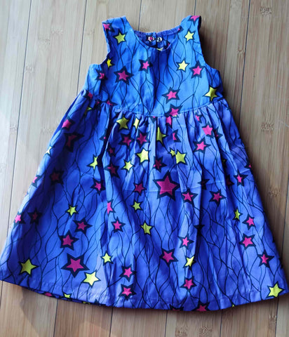 Starburst Purplina Toddler Dress