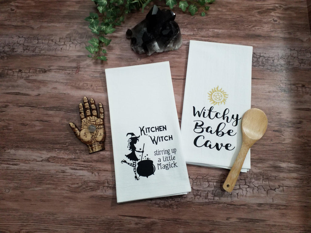Witchy Babe Cave Flour Sack Towel