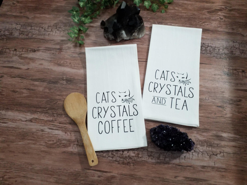Cats Crystals Coffee Flour Sack Towel - The Spirit Den