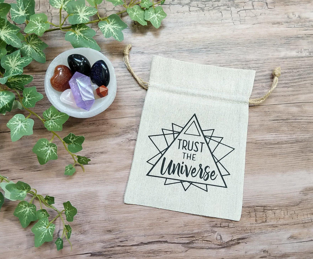 Trust The Universe Sacred Geometry Cotton Linen Deck Bag