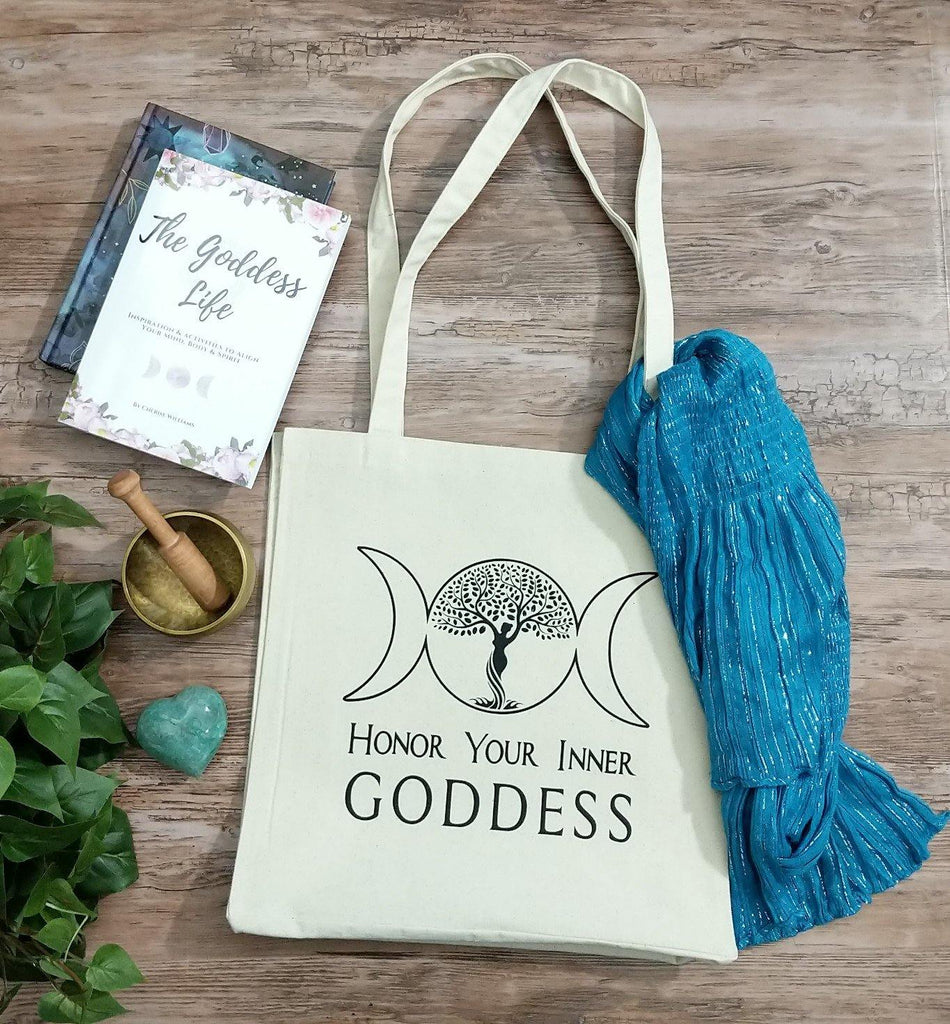 Honor Your Inner Goddess Cotton Canvas Market Tote Bag