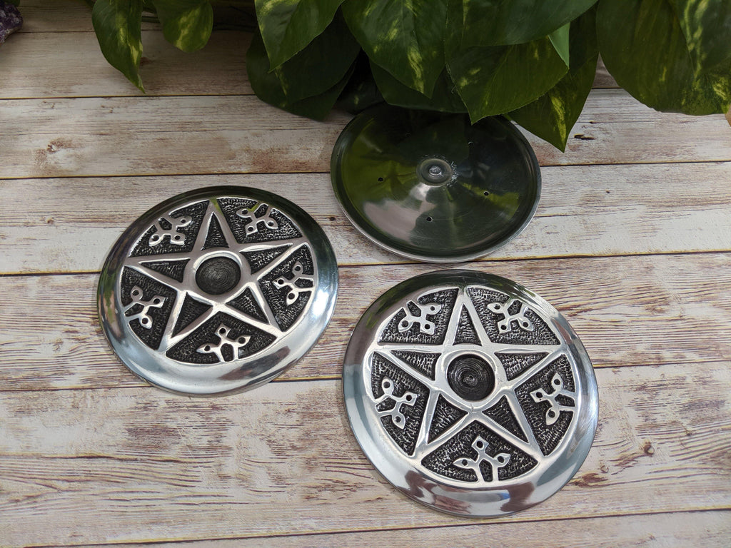 Pentacle Metal Incense Burner for Incense Cones or Sticks