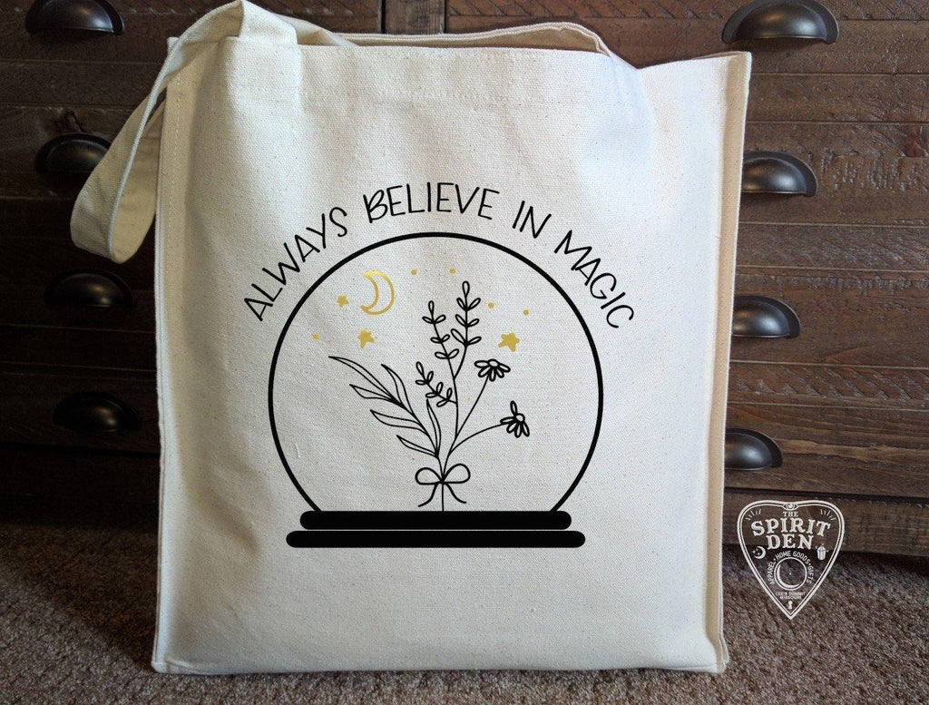 Always Believe In Magic Crystal Ball Cotton Canvas Market Bag
