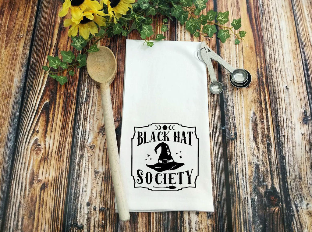 Black Hat Society Witch Hat Flour Sack Towel