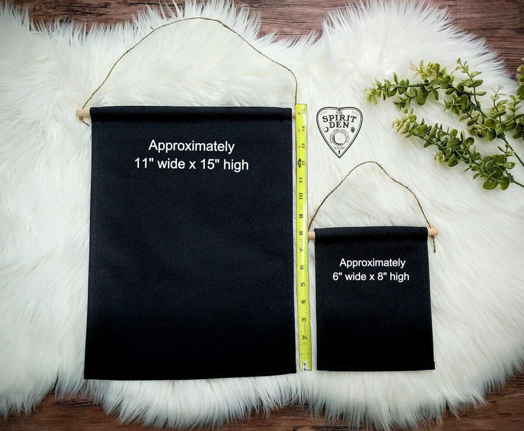 Magical Babe Cave Black Canvas Wall Banner