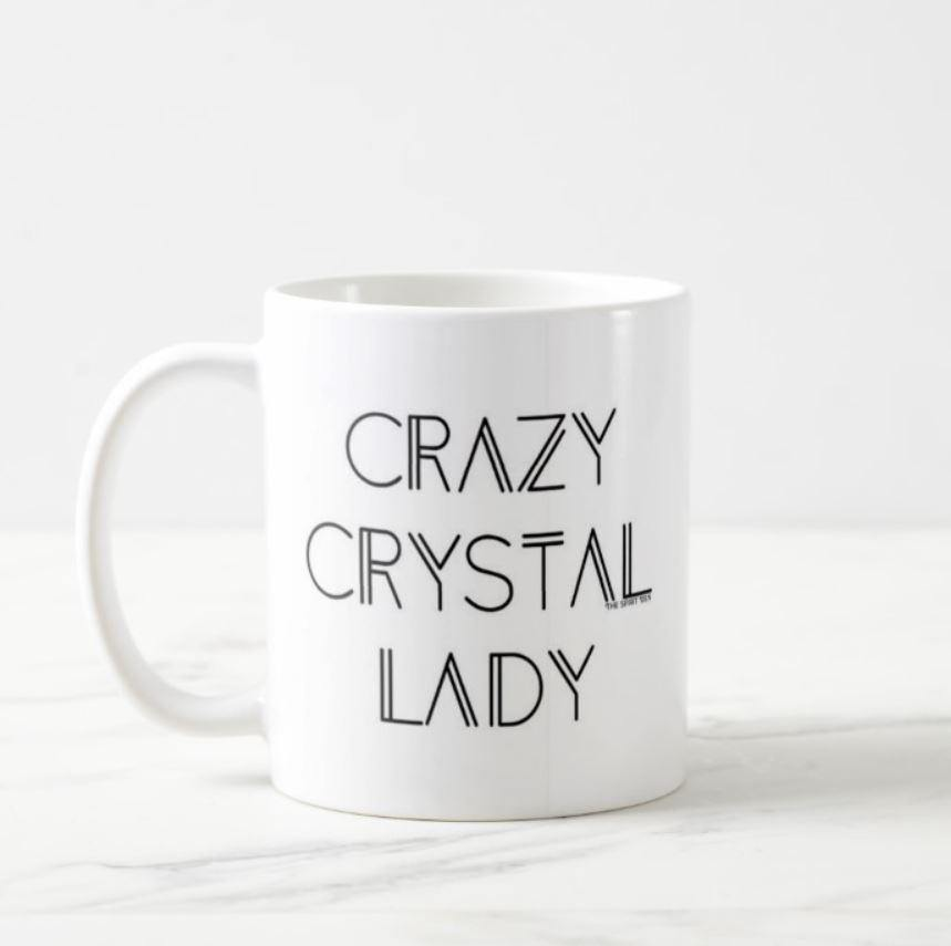 Crazy Crystal Lady White Mug