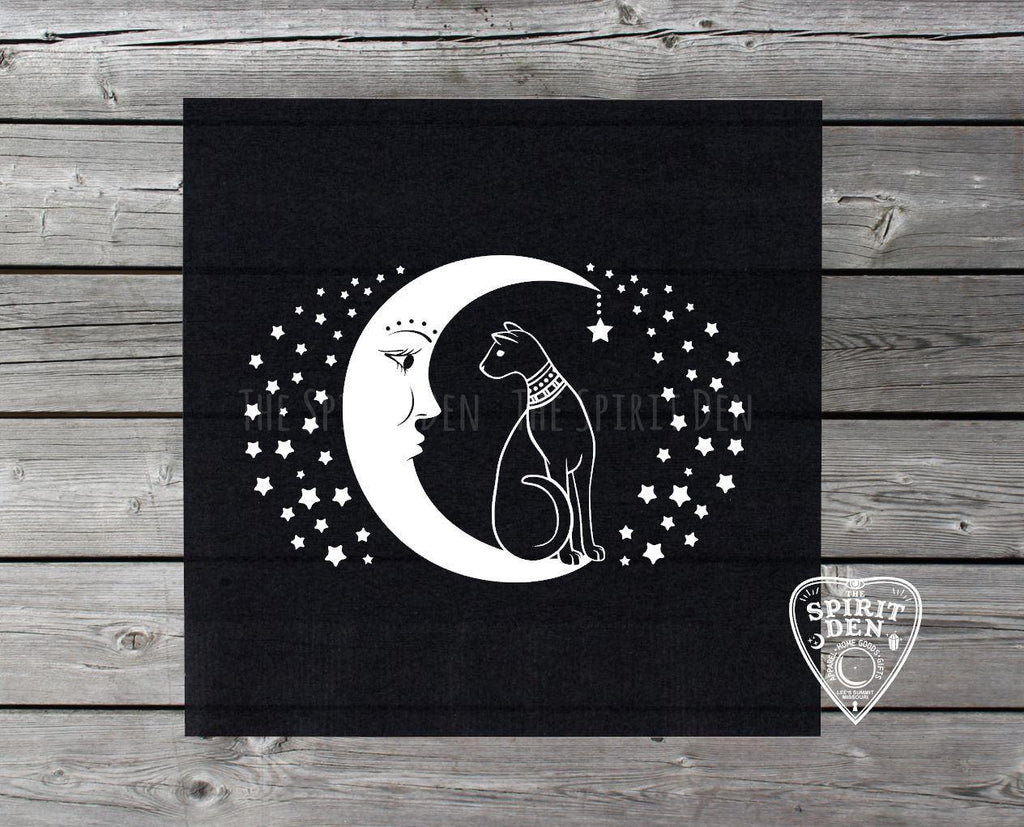 Cat and the Moon Altar Tarot Cloth