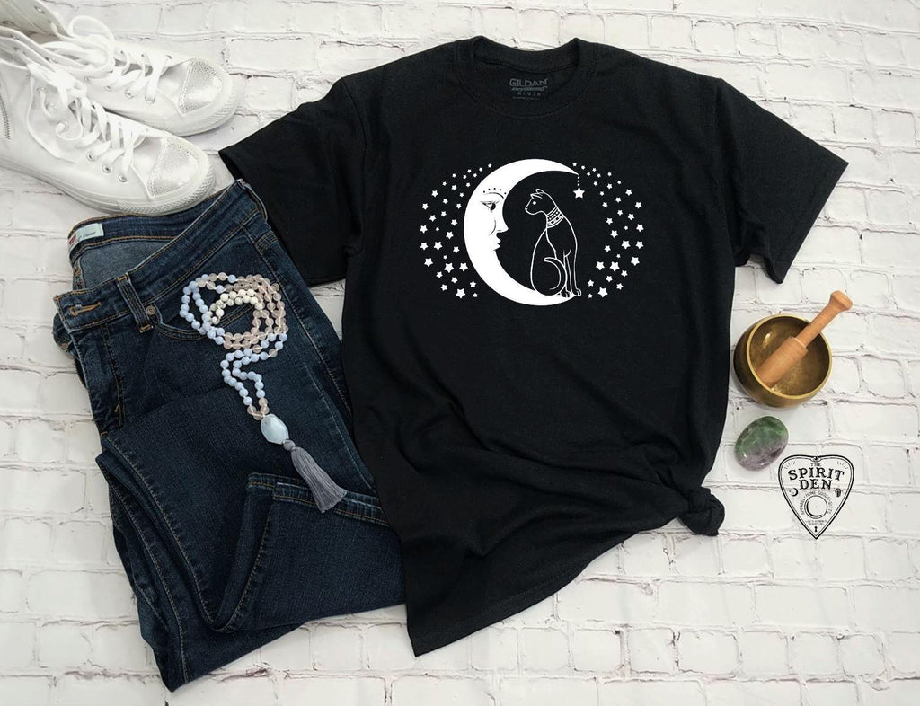 Cat And The Moon T-Shirt Extended Sizes