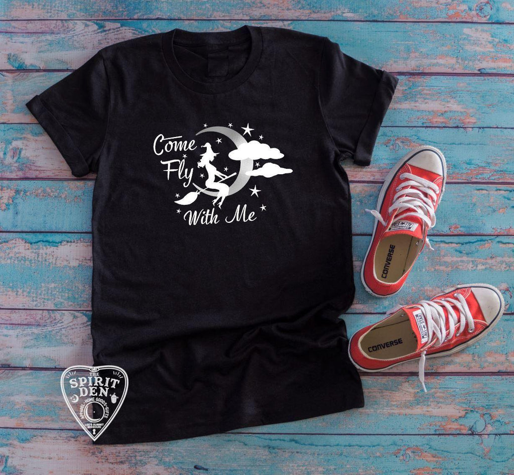 Come Fly With Me Cute Witch T-shirt