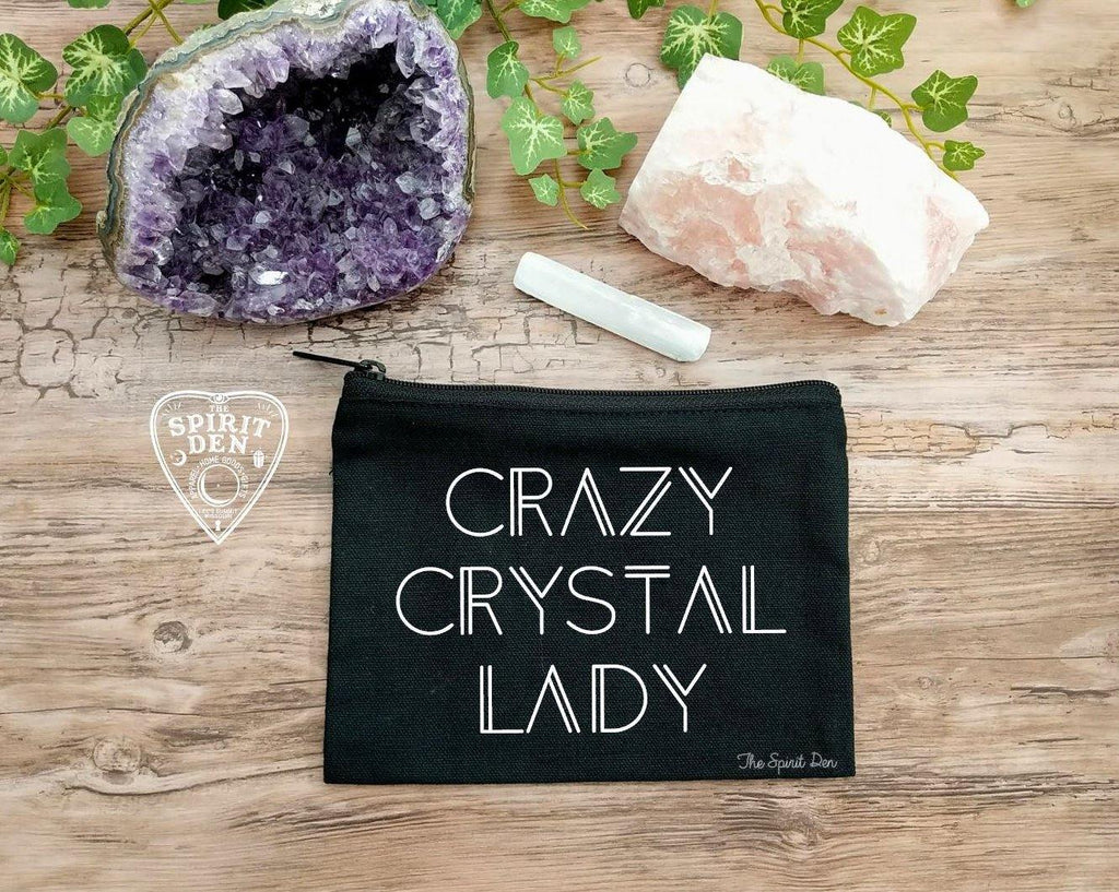 Crazy Crystal Lady Black Zipper Bag