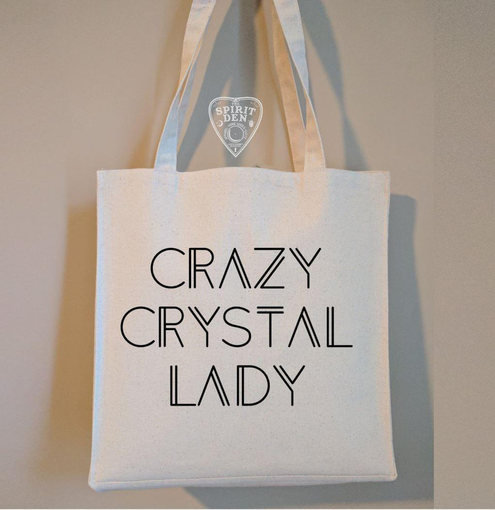 Crazy Crystal Lady Cotton Canvas Market Tote Bag