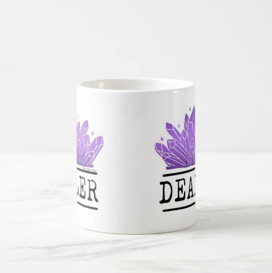Crystal Dealer White Mug