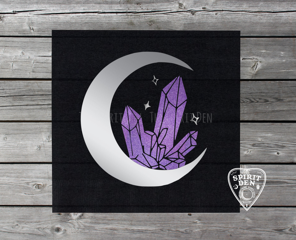 Crystalline Moon Dream Altar Cloth Tarot Cloth - The Spirit Den