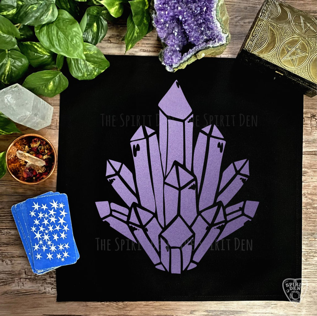 Crystal Cluster Altar Cloth Tarot Cloth