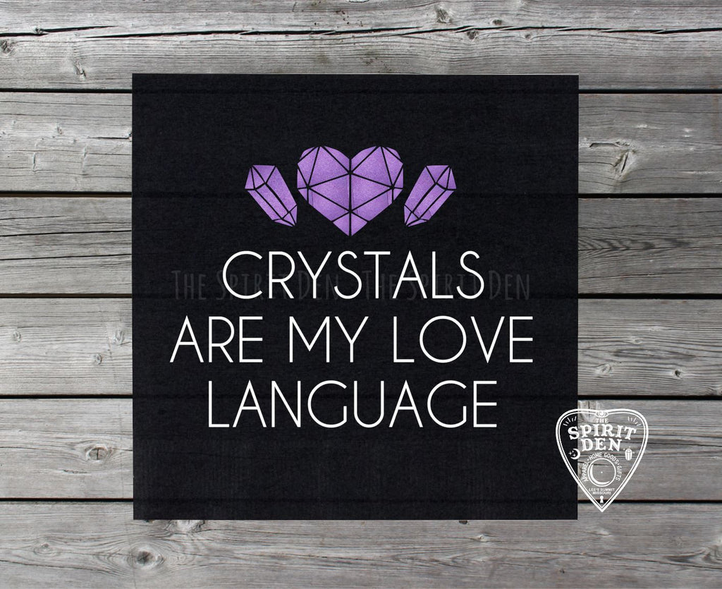 Crystals Are My Love Language Altar Cloth Tarot Cloth