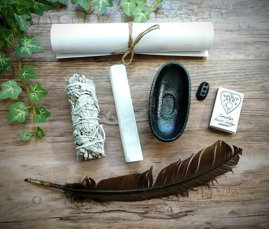 Home Blessing - Smudge Kit with Canvas Zipper Pouch | Energy Cleansing