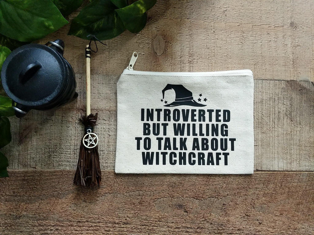Introverted But Willing To Talk About Witchcraft Canvas Zipper Bag