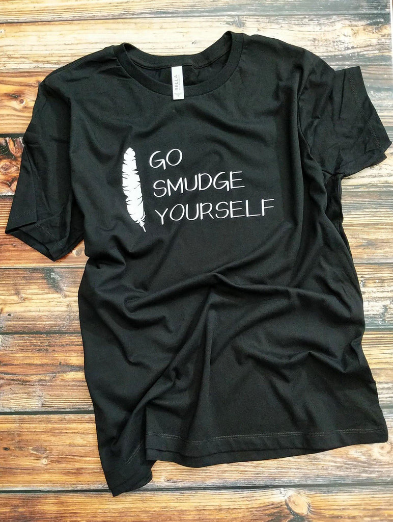 Go Smudge Yourself Feather T-Shirt