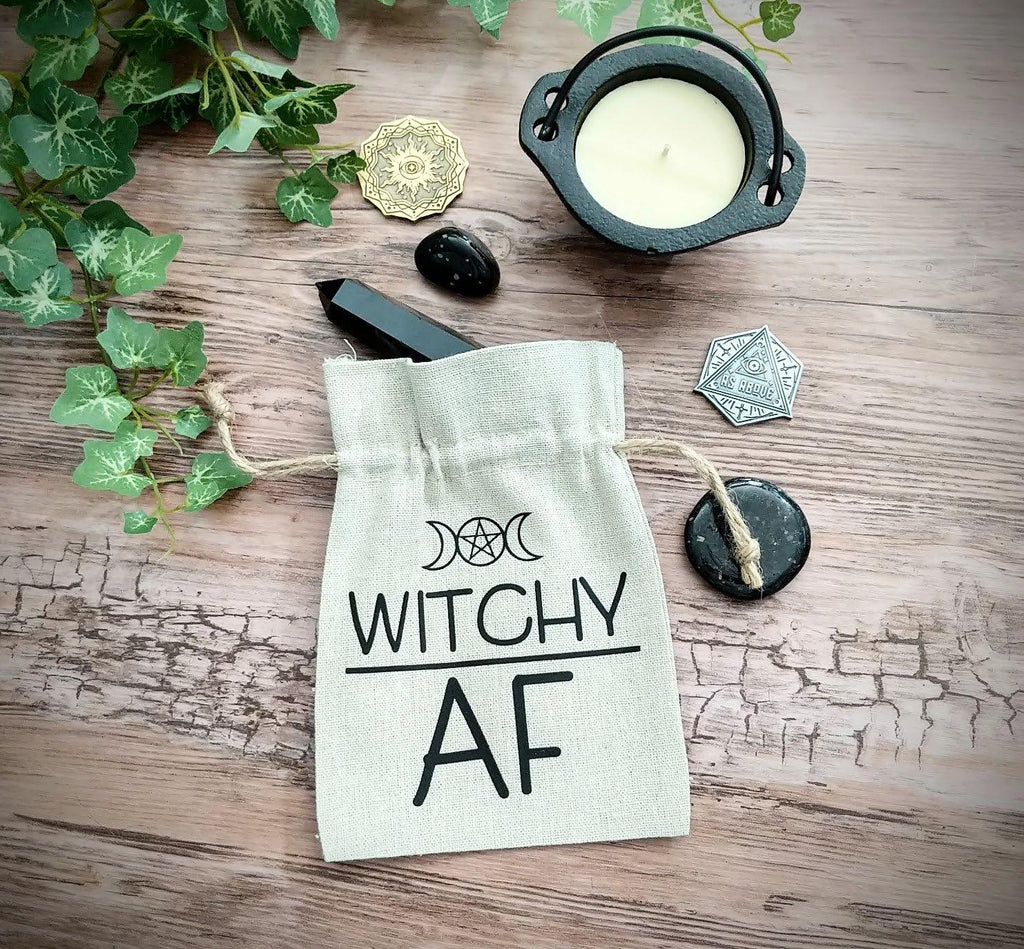 Witchy AF Linen Bag - The Spirit Den
