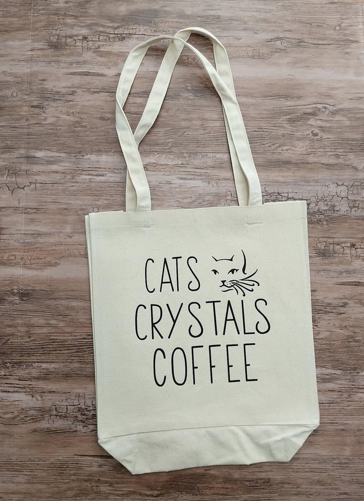 Cats Crystals Coffee Cotton Canvas Market Bag