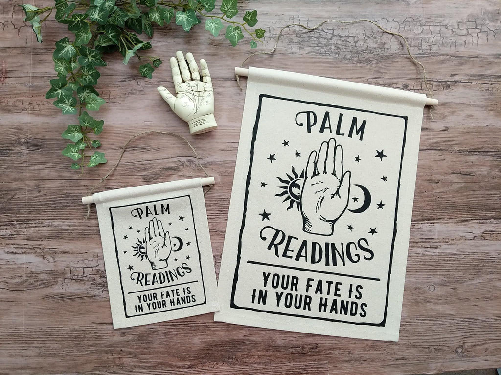 Palm Readings Canvas Wall Banner