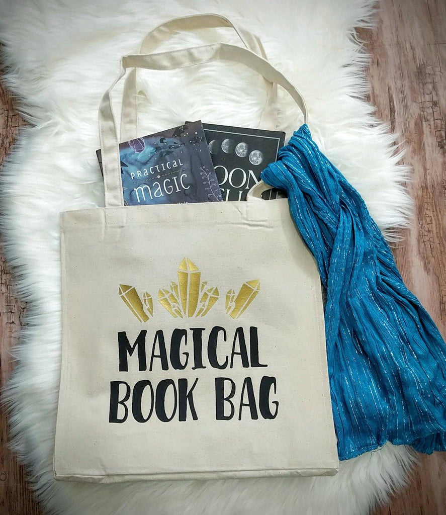 Magical Book Bag Cotton Canvas Market Tote  Bag