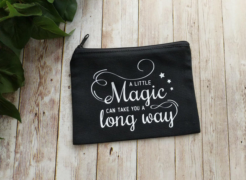 A Little Magic Can Take You A Long Way Black Zipper Bag