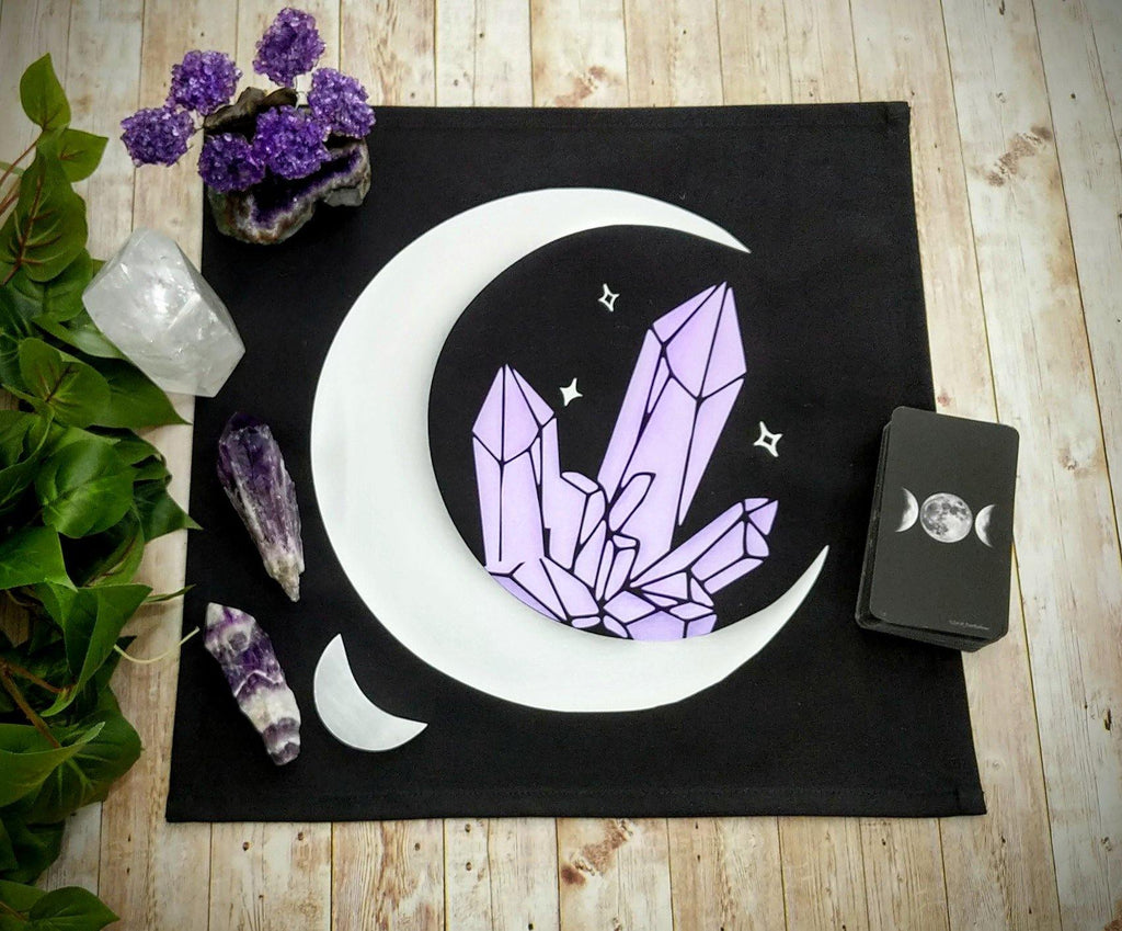 Crystalline Moon Dream Altar Cloth Tarot Cloth