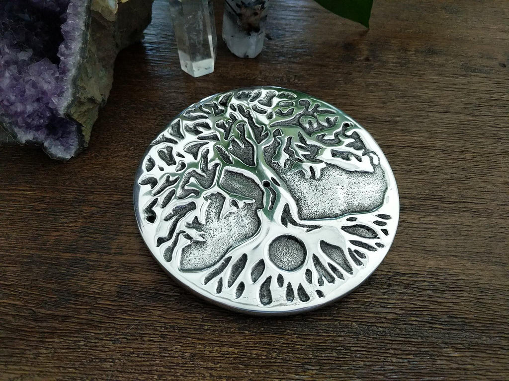 Tree of Life Metal Incense Burner for Incense Cones or Sticks
